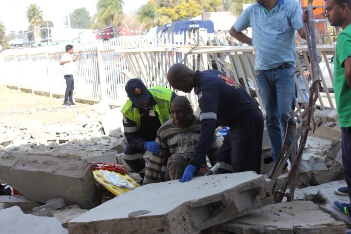 Newcastle Municipality investigates collapsed building. Photo: Newcastle Advertiser