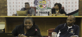 From the back row: Special Programmes manager Samke Dube, Cllr Lindiwe Thwala, Mrs Thabisile Dlamini from Department of Health and Njabulo Makatini