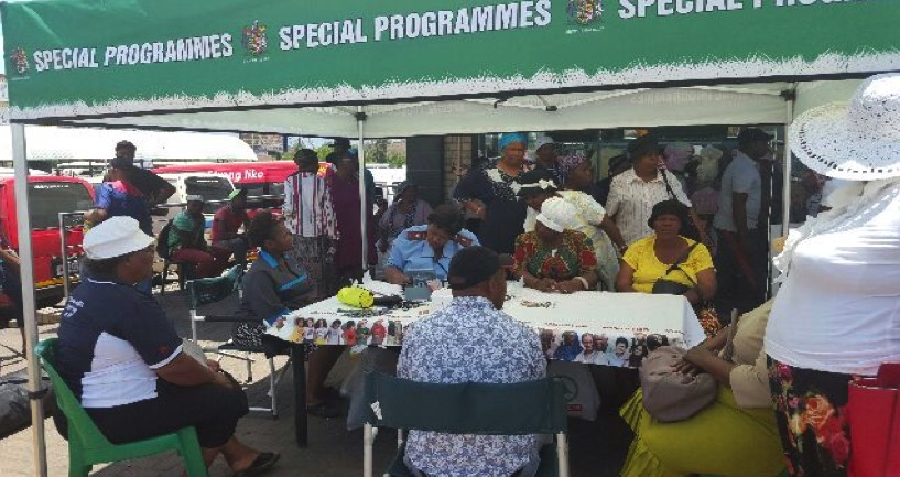 The Meeting then proceeded to Newcastle taxi City where Department of health rendered wellness screening services to the community.