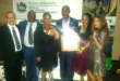Seen in the picture is Mayor Makhosini Nkosi and officials for the Municipality