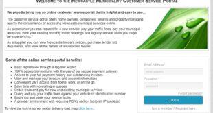 Newcastle Municipality Customer Service Portal security