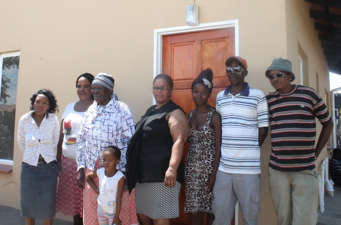 The Mbatha family of ward 17 with ward Cllr Sibilwane . Gogo ida Mbatha is a 80 year pensioner of ward 17, she is the only source of income for a family of six(6).