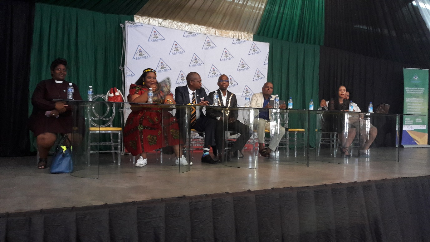 Pastor G. Koloko, Newcastle Speaker Cllr J. Khumalo, Newcastle Mayor Cllr M. Nkosi, Amajuba District Mayor Dr. M Ngubane and the deputy mayor of Amajuba Cllr S. Nkosi